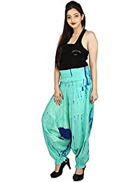 Fashion Farmer's Womens Cotton Patch Tie & Dye Harem Pant With Elastic Waistband....
