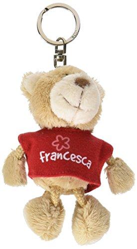 Nici n15802 - portachiavi orsetto con t-shirt francesca, rosso