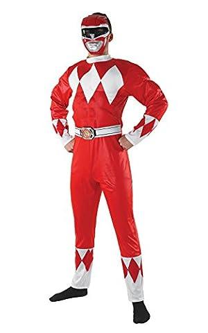 Déguisement Power Rangers rouge adulte Taille L