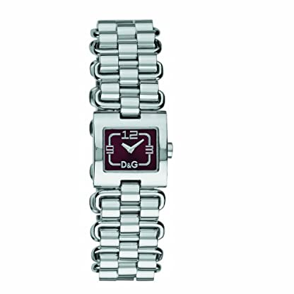D&G Dolce&Gabbana d&g fantastic – Reloj analógico de mujer de cuarzo con correa de acero inoxidable plateada – sumergible a 30 metros