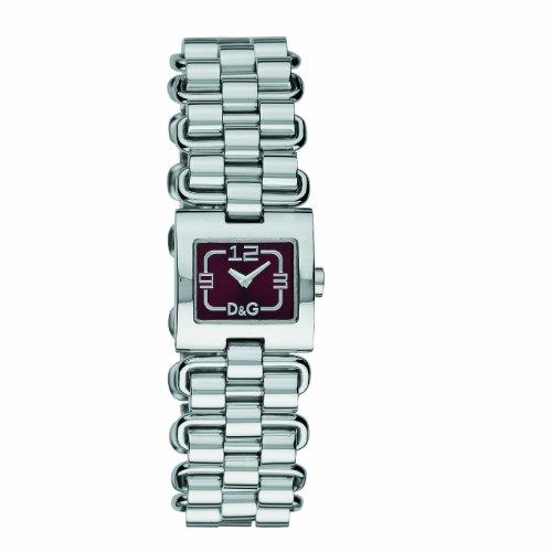 D&G Dolce&Gabbana d&g fantastic - Reloj analógico de mujer de cuarzo con correa de acero inoxidable plateada - sumergible a 30 metros