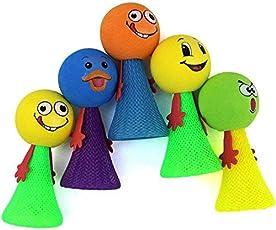Birthday Popper Kid's Smiley Emoji Jump Elf Fly Toy (9x4.5cm, Multicolour)-Set of 20