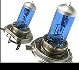 2x H4 H 4 P43T P45T 90/ 100W 100 Watt Xenon Optik Look Lampen Birnen Halogen Lampen Glühbirnen Glühlampen 12V Auto auch für Nebelscheinwerfer Fassung weisses Licht HID Kit wie Canbus, keine Fehlermeldung