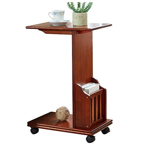 Lebendes Büro / einfacher Ablagetisch Mobiler Laptopständer für Schreibtisch Massivholz Tragbares Schlafsofa Schlafzimmer Tagungsraum Amerikanische Möbel 2 Größen (Farbe: Nussbaum, Größe: 46x30x70CM) -