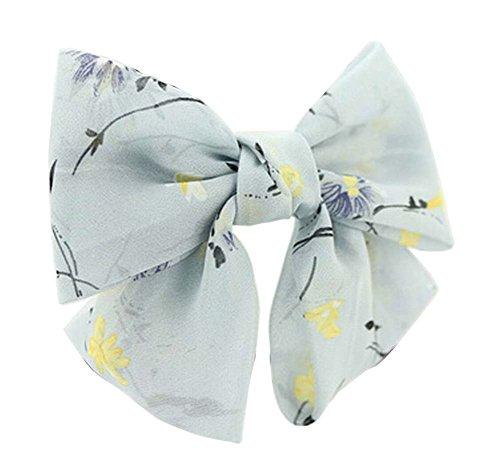 Jolies en mousseline de soie Bow Barrette Cheveux clip Fleurs