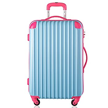 "Travelhouse Executive Business Bag Luggage Travel Flight Case Suitcase New (28"", Blue & Rose) 1"