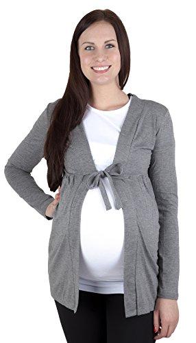 """Mija – Cardigan pour les Femmes et de maternité Bolero """"Betty"""" 7105 Graphite"""