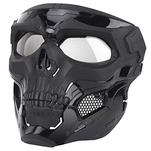 YxFlower Masque de Protection Airsoft, Masque Militaire Tactique Airsoft pour Paintball /Halloween Costumes Cosplay /CS Mask