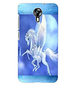 ColourCraft Flying Horse Design Back Case Cover for MICROMAX CANVAS XPRESS 2 E313