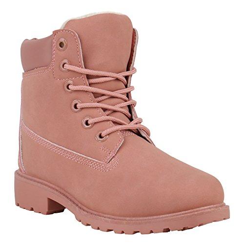 Warm Gefütterte Worker Boots Damen Outdoor Stiefeletten Robust -