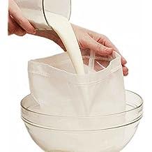 Bolsa Reutilizable de Leche Vegetal Bolsa Filtro Ideal para Leche de Nuez 30*30CM 2Pcs