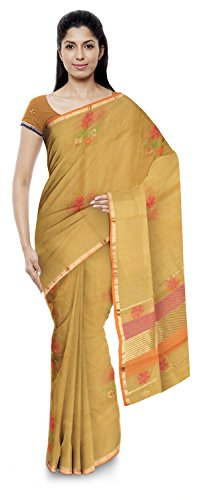 Jamil Kota Doria Sarees Cotton Saree (Wh022_Golden)