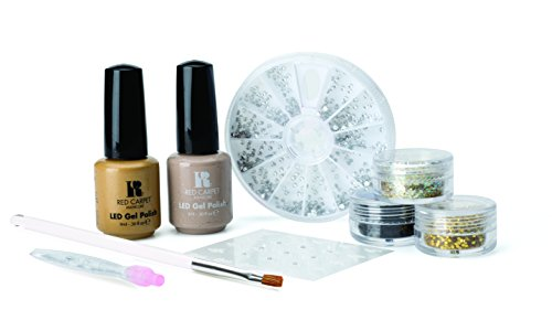 Red Carpet Manicure Gems and Jewels Golden Dust Edition Kit, 1er Pack