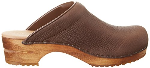 Sanita Damen Sirkit Open Clogs Braun (Antique Brown)