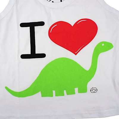 Goodie Two Sleeves Girl-Pyjama long I LOVE DINO Multicolour