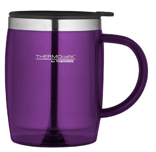 Thermocafé Plastique et acier inoxydable Desk/Mug de voyage, 450 ml, Plastique Acier inoxydable, violet, 0.45L