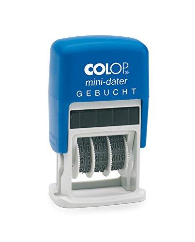 Colop S160/L3 MiniDater 5 x 25 mm, 4 mm Kissen rot/blau Gebucht