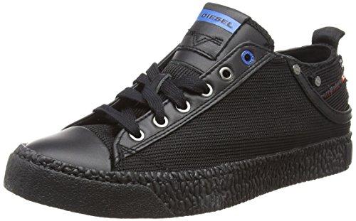Diesel exposure low i, scarpe da ginnastica basse uomo, nero t8013, 42 eu