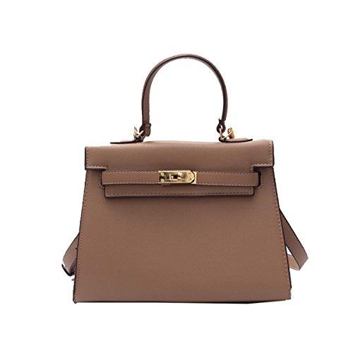 Yy.f Neue Handtaschen Neue Umhängetasche Lock Tragbare Handtaschen Art Und Extrinsische Intrinsische Und Praktisch Brown