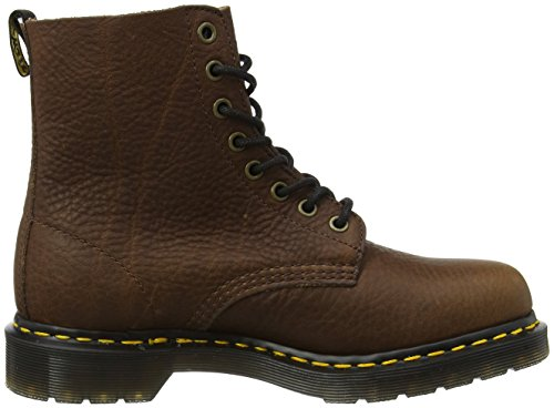 Dr. Martens 22008608, Stivali Corti Donna Marrone (Dark Brown Grizzly)