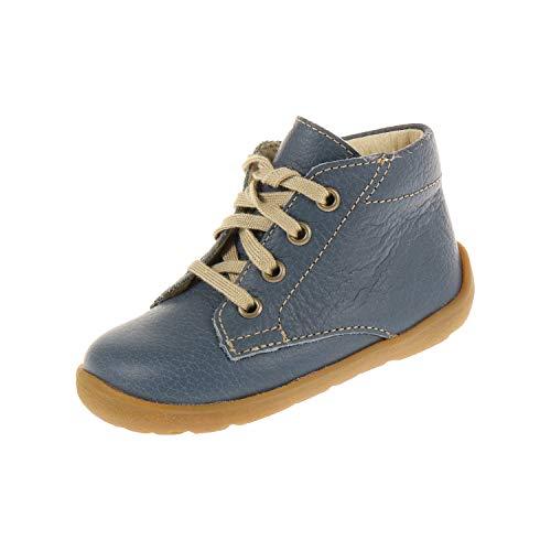 Bio Line by Däumling Baby Schuhe für Jungen Schnürschuh Halbschuh Nappa CF Jeans Weite S 041001S42 (18 EU)