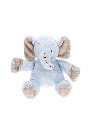 Peluche per bambino appena nato di piccolo elefante blu adatto per neonati