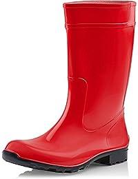 LEMIGO Botas de Agua para Mujer Ilse Rojo