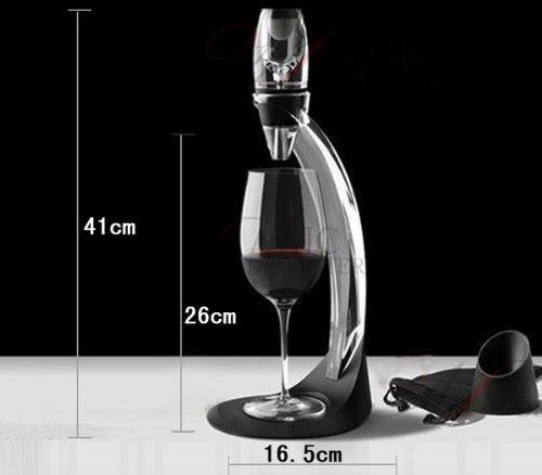 FLOUREON- Set Décanteur de luxe Aérateur à vin rouge stand avec filtre, sac de voyage -...