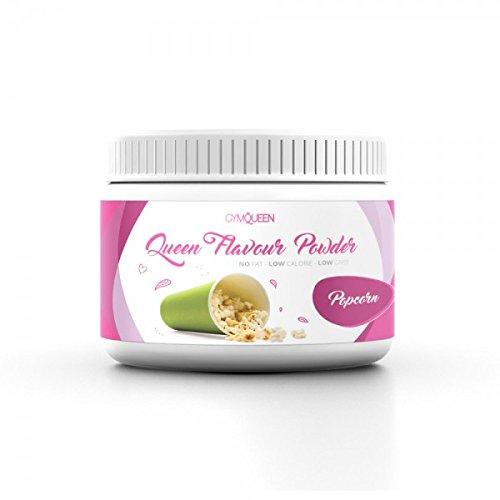 Queen Flavour Powder 200g Popcorn Aroma Pulver für Milchspeisen und für Lebensmittel in 25 Flavours zum Mischen und zum Backen Lebensmittelaroma für Protein und Eiweiß Shakes