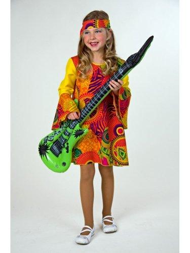 Festartikel Hirschfeld Kostüm Hippie rot für Mädchen (Mädchen Hippie-kostüme Für)