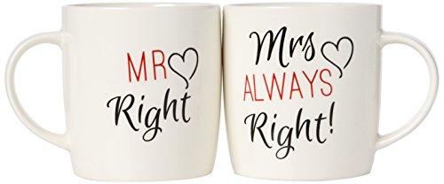 Something Different Mr.und Mrs.Tasse für Paare, bunt