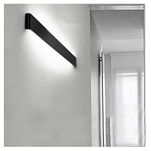 Ralbay LED Wandlampe Up & Down Wandleuchte Innen Spiegelleuchte Kaltweiß 6000K Badlampe Wasserdicht 24W für Badzimmer Schlafzimmer Wohnzimmer Treppen 71cm Schwarz - Schwarz-badezimmer-lampen