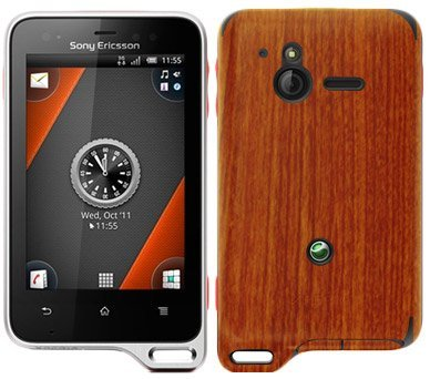 Skinomi TechSkin - Sony Ericsson Xperia Active Screen Protector + Light Wood Full Body Skin Protector / Front & Back Premium HD Clear Film / Ultra High Definition Invisible and Anti Bubble Crystal Shield with Free Lifetime Replacement Warranty - Retail Packaging  available at amazon for Rs.3499