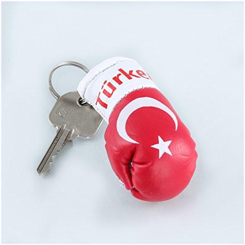 Schlüsselanhänger / Anhänger für Schlüssel - TÜRKEI - Boxhandschuh mit Schlüsselring, 7 cm groß