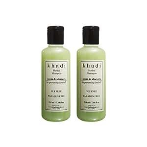 Khadi Neem & Aloevera Herbal Shampoo- Sls & Paraben Free - 210ml (Set of 2)