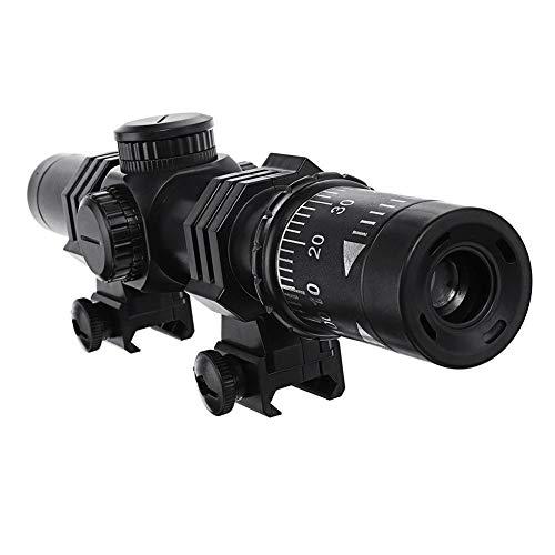 Jannyshop Rojo Visor de Punto 8X Magnifier Reflex Sight Magnifier Combo Accesorios de Lanzadores de Bombas de Agua