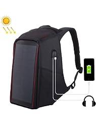67b514e09f Outdoors-Bags Borse all'aperto 12W Zaino antifurto a Zaino con Pannello  Solare Flessibile