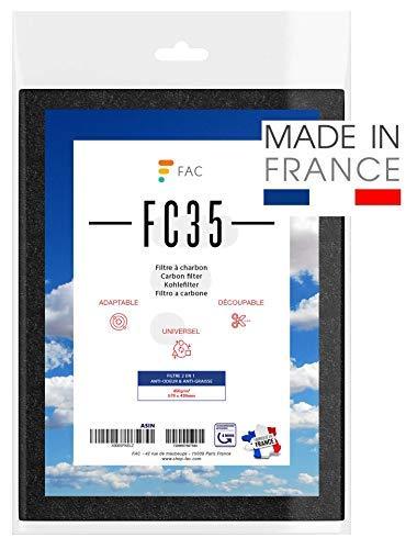 FAC Universal Kohlefilter / Aktivkohlefilter für Dunstabzugshaube FC35 Kombi-Filter für Flachhauben | Universelle Größe für alle Abzugshauben geeignet (Zuschneidbar) | 47 x 57 cm