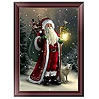 xel_uu.11 5D - Punto de cruz, diseño de Papá Noel, bordado, bricolaje, decoración de Navidad