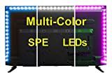 SPE Bias Lighting for HDTV 78-inch 60 LED Multi-Color RGB - USB LED Backlight Strip with Dimmer for Flat Screen TV LCD Desktop Monitors Multi-Color