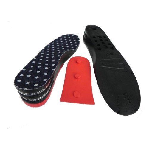 FreshGadgetz 1 Par plantillas de zapatos con talonera negras para incrementar la estatura de poliestireno con de 5 cm - Plantillas