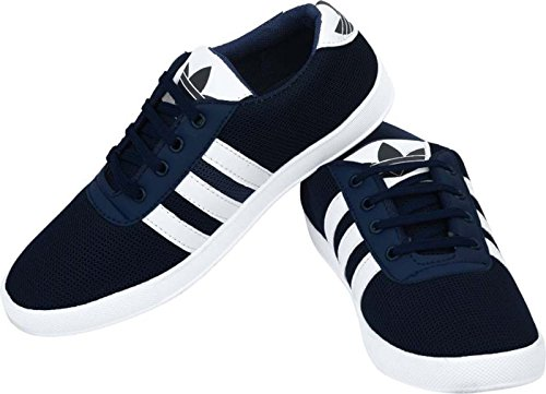 Deekada Men's Sneakers Blue Canvas 9