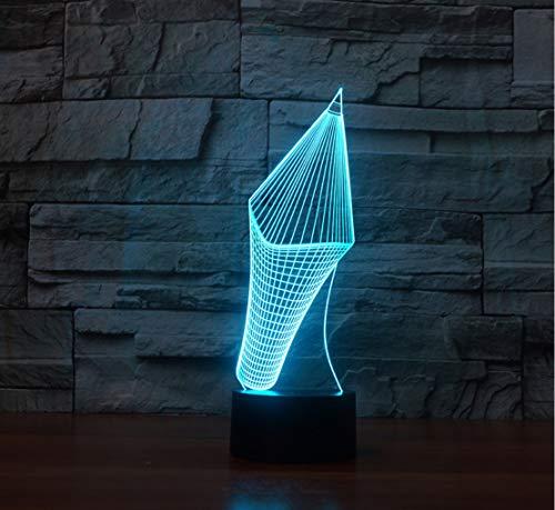 Knncch 7 Farben Ändern 3D Visuelle Bleistift Modell Tischlampe Led Neuheit Stift Form Nachtlicht...