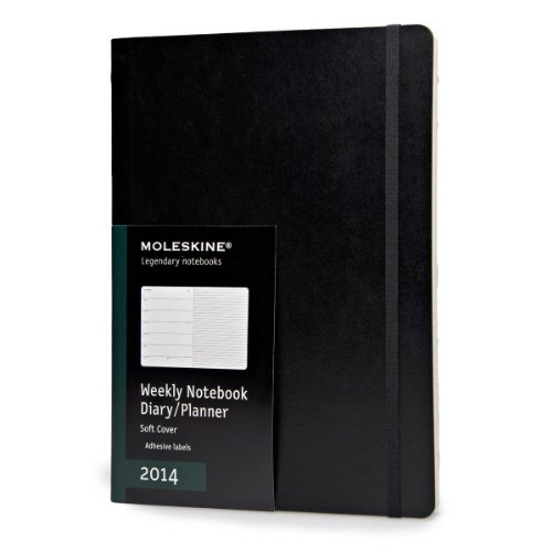 Moleskine Extra Large Soft 12 Months 2014 Weekly Notebook por Moleskine