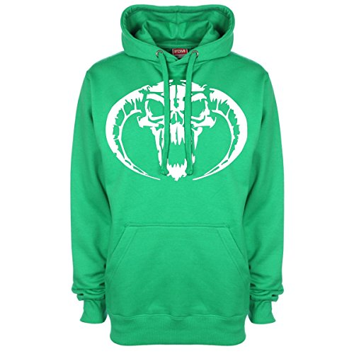 Screaming Demon-Felpa con cappuccio Verde