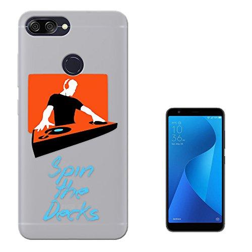 c01046 - Cool Dj Spin The Decks Mixer Sound Music Club Dance Design Asus Zenfone Max (M1) ZB555KL Fashion Trend Silikon Hülle Schutzhülle Schutzcase Gel Silicone Hülle