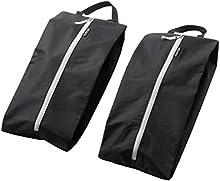 alpamayo bolsa de zapatos set de 2, resistente al agua. Separa zapatos sucios de la ropa limpia, negro