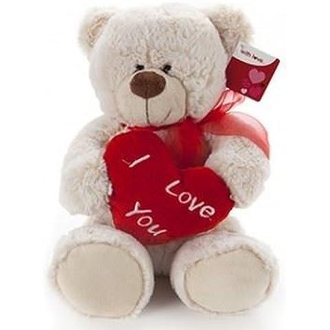 Lujo I Love You Corazón Henry oso de peluche Toy–Single