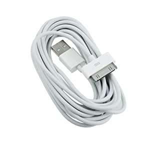 Product Mania Ltd 2m Extra Long USB Data Sync Charger Cable Lead For iPhone 4 4S 3GS iPod (1 in Pack)