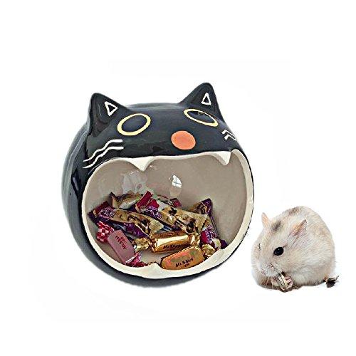 Keramik Hamster Betten Versteck Nest, Chinchilla Käfig Zubehör, Hamster Spielzeug Home und Bad für kleine Tier Sugar Glider Eichhörnchen Chinchilla Hamster Ratten Spielen Schlafen (Sugar Glider Farben)
